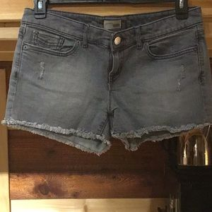 Gap frayed jean shorts